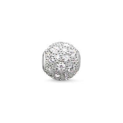 The white #THOMASSABO Crushed #Pavé #bead radiates a crystal-clear dazzle that ensures inner clarity and certainty.  #KARMA