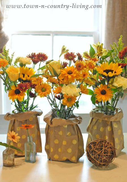 How to Make Paper Bag Vases
