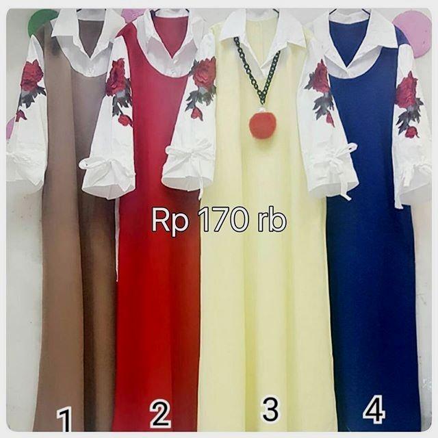 Baju Coklat Merah Kuning Biru harga Rp 170000 #sepatuketsonline #sepatugayawanita #sepatuhandmadepremium #sepatuwanitacantik