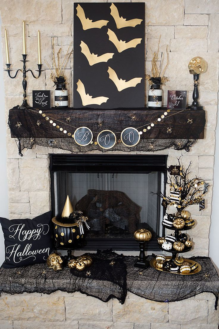 Lisa b mrs s halloween decorating with kids in three easy steps - 30 Absolutely Stunning Ways To Decorate Your Mantel This Fall
