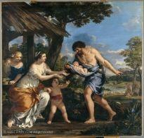 Pietro BERRETTINI, dit Pierre de CORTONE (Cortone, 1597 - Rome, 1669)  Romulus et Rémus recueillis par Faustulus  Vers 1643  H. : 2,51 m. ; L. : 2,65 m.  Entré au Louvre en 1794 , 1794  INV. 111