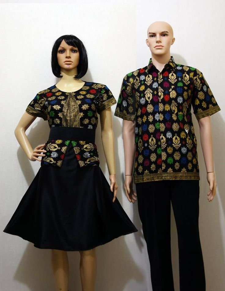 Kode : SD 26 Hitam  Harga : 175.000 sepasang  Dress Batik Couple Motif Songket…