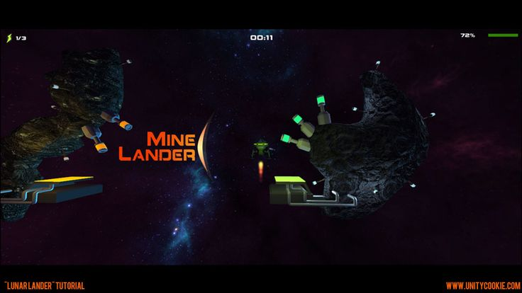 Learn to crate a mine-lander type game in Unity.