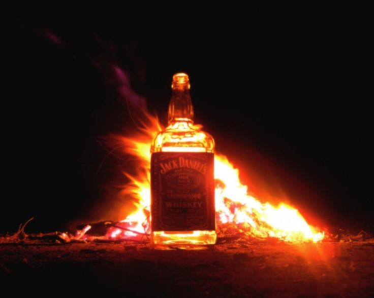 Wallpapers Objects  Wallpapers Beverages - Alcohol Jack Daniels in fire by damien06fr - Hebus.com