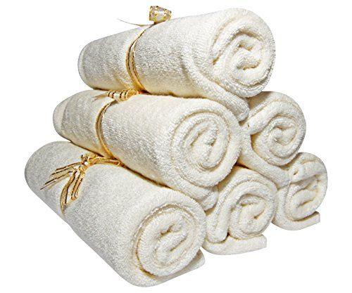 """cool Baby Washcloths Bamboo, Organic, Luxury (6pack 10.6"""") Best for Reusable Baby Wipes, Cloth Wipes, Eczema & Sensitive Skin. Baby Registry, Shower, Newborn Bath Gifts, Natural Products, Skin Care"""
