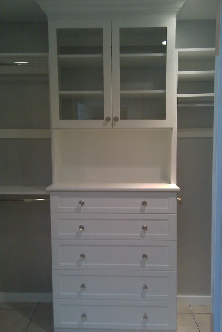 Custom Closet Drawers With Crystal Knobs