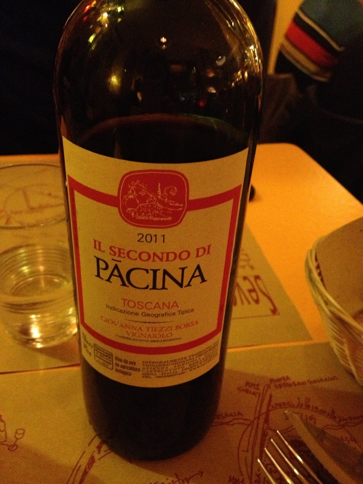 """#vino #biologico """"Il secondo di Pacina""""San Giovese 97% #Toscana 2011"""
