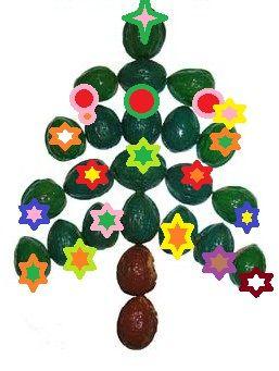 Поделка новогодняя елка. Нам потребуются следующие материалы: клей ПВА, скорлупа…
