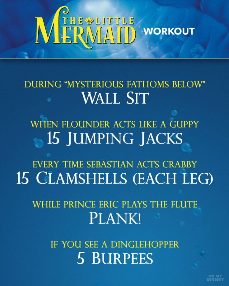 The Little Mermaid Watching Workout Guide
