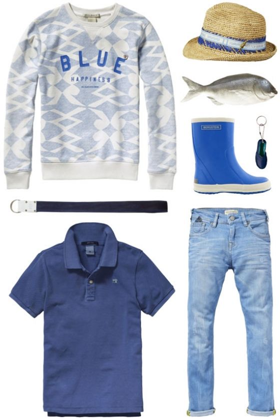 A cool casual outfit for boys woth Scotch Shrunk and Bergstein | www.eb-vloed.nl