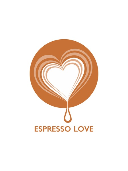 Espresso Love Stretched Canvas