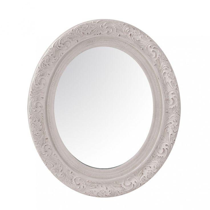 Baños Estilo Arabesco:Un toque especial en el #baño con el #espejo ovalado de #VicalHome