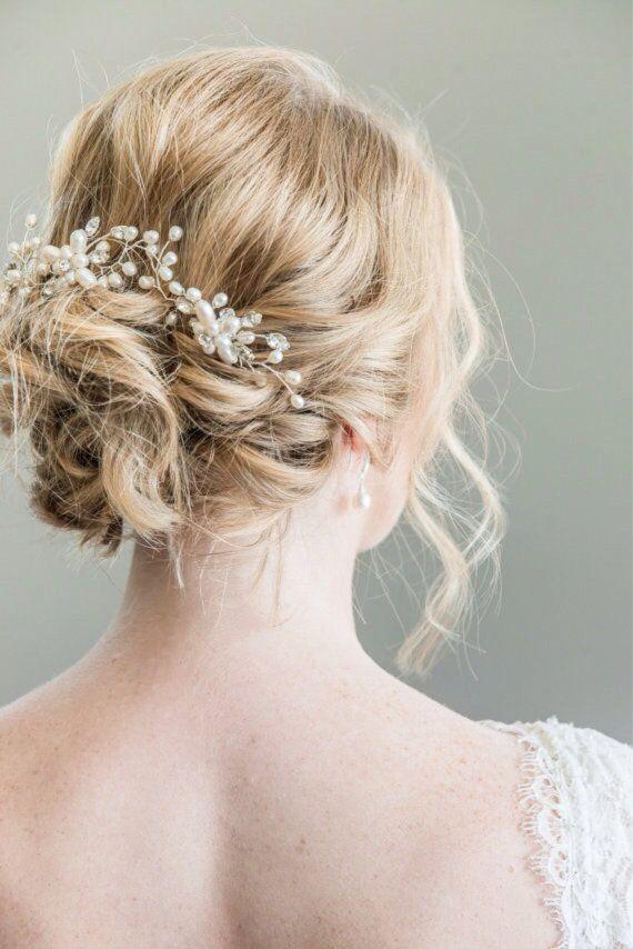 Horquillas novia peluca novia vid de pelo Halo por somethingjeweled