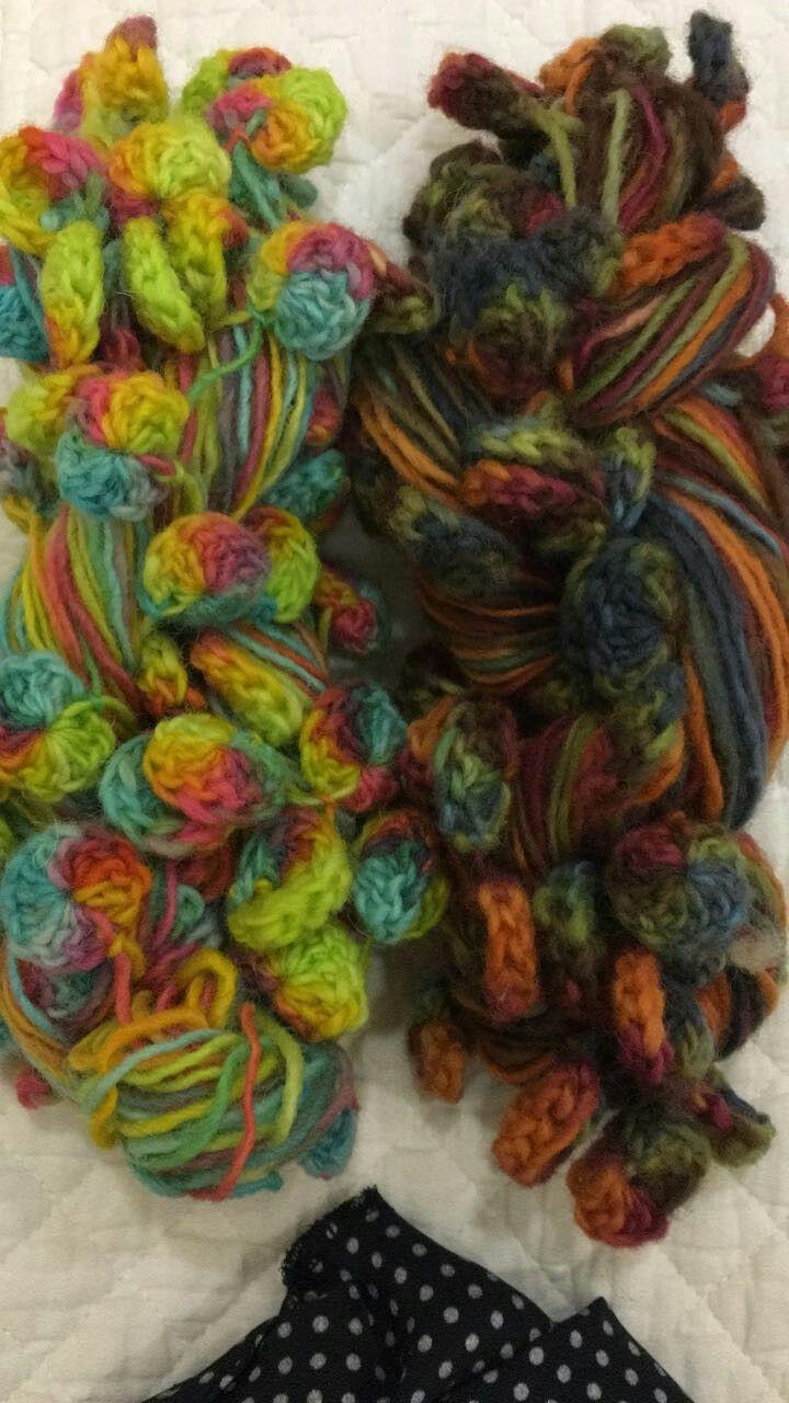 Lana aplicación  crochet