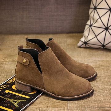 Women Casual Suede Soft Slip On Ankle Short Boots - US$27.99