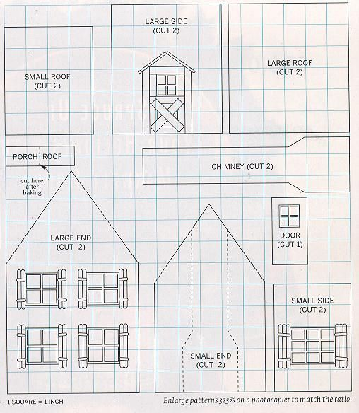 Free Gingerbread House Plans | Gingerbread House - instructions, tips, and more