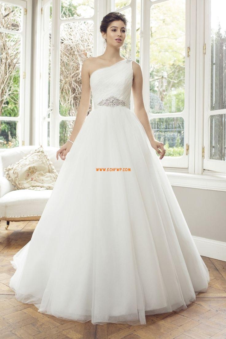 Princesové Jaro 2014 Empírové Luxusní svatební šaty