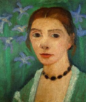 Paula Modersohn-Becker - Figurative Painting - German Expressionism - Selfportrait 1905