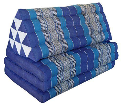 cool Cojín triangulo tailandés XXL (2 p), con colchón plegable 3 pliegues, fabricado en Tailandia, azul (82218) Mas info: http://www.comprargangas.com/producto/cojin-triangulo-tailandes-xxl-2-p-con-colchon-plegable-3-pliegues-fabricado-en-tailandia-azul-82218/