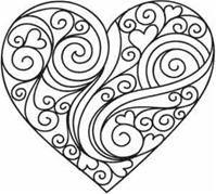 template de coeur / Doodle heart