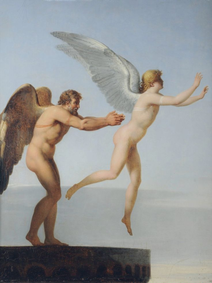 """1799 """"Icarus and Daedalus"""" by Charles Paul Landon"""