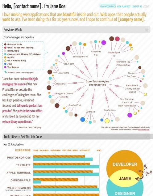 206 best Creative CVu0027s images on Pinterest Business - application developer resume