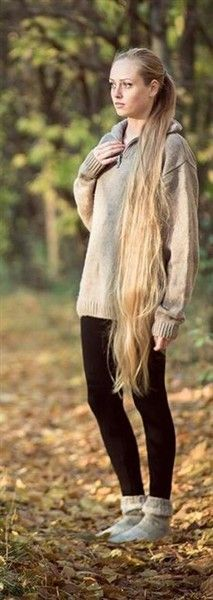 And people say I have long hair! I still have a little ways to go to get to here!
