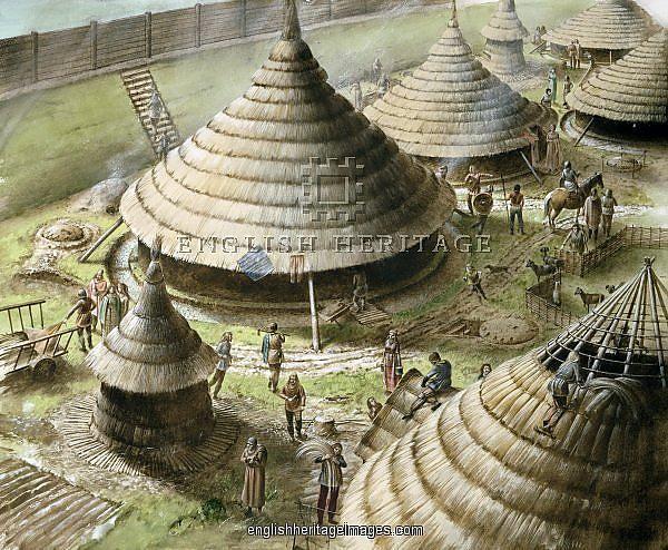 Celtic Roundhouses-Maiden Castle