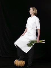 Clare Smyth - 3 starred Michelin chef/patron at Restaurant Gordon Ramsey in London. Clare was trained by Alain Ducasse at Louis XV in Monaco