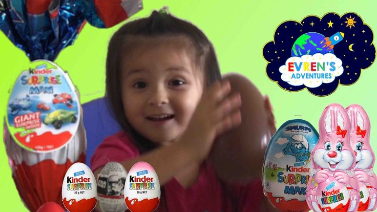 GIANT KINDER MAXI EASTER 2017 SURPRISE EGGS OPENING! Opening New Giant Kinder Eggs Maxi Easter Eggs Surprise Toys for Kids. Join Evren unboxing big surprise eggs Easter Holiday edition, Giant Bunny Rabbit, Kinder Chocolate Egg Surprise, and kinder surprise Eggs Disney Star Wars filled with lots of Surprise Toys.  Happy Easter everyone! Great kids video who loves Surprise Eggs and Toys! Please subscribe, share and leave us your comments…