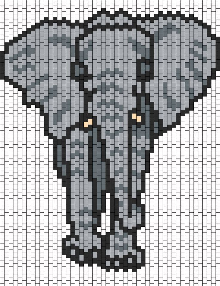 Elephant bead pattern