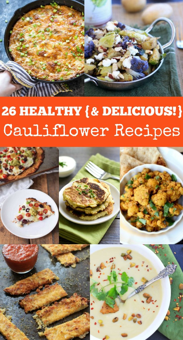 26 Healthy {and Delicious!} Cauliflower Recipes. One for every other week of the year! | Get all the gluten free recipes at The Spicy RD! Vegan, Paleo, Low Carb options too!