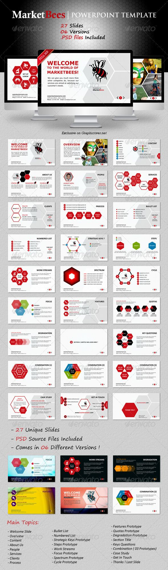 Best 25 business powerpoint templates ideas on pinterest marketbees powerpoint template business powerpoint toneelgroepblik Images