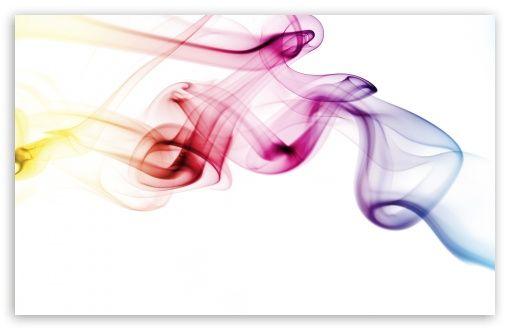 Colored Smoke White Background wallpaper