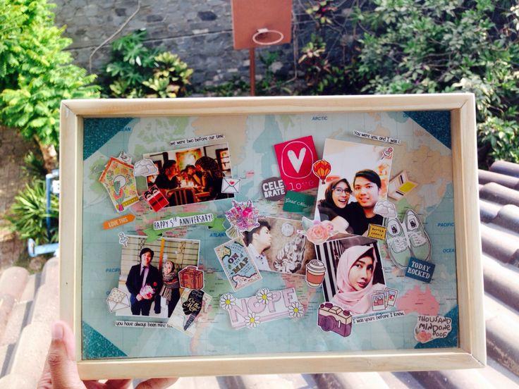 Scrapframe #1000mop #1000moponboard #1000mopinajar #1000moponframe #gift #craft #souvenir #jar #giftinajar #frame #scrapframe #kado #ulangtahun #milad #birthday #graduation #love #anniversary #wedding #bride #nikah #mahar #onlineshop #olshop #Bandung #explorebandung #Jawabarat #jabar #popup #popart