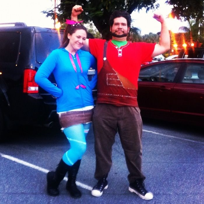 """Seeing these two was one of my favorite Halloween memories. <3 -- """"Wreck-It Ralph and Vanellope Von Schweetz costumes for Halloween. :)"""""""