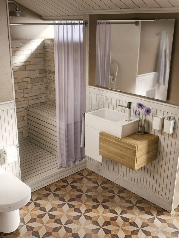 Diseños para la zona de ducha #loftCOLORS #lavabo #TRESGriferia
