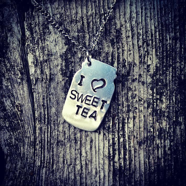 Wildflower Cowgirl - I Love Sweet Tea Mason Jar Necklace, $19.95 (http://www.wildflowercowgirl.com/western-jewelry/i-love-sweet-tea-mason-jar-necklace/)  mason jar, cowgirl necklace, western jewelry, sweet tea, southern living