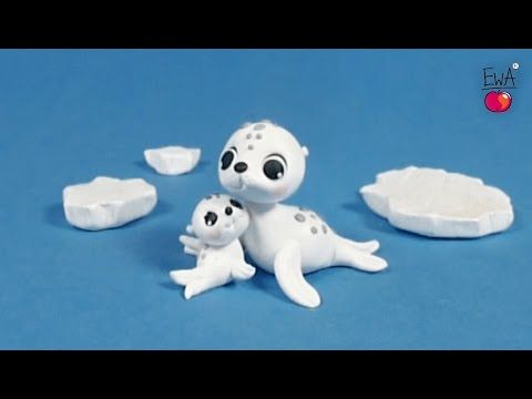 WHITE SEAL - tutorial polymer clay by LetsClay with Ewa
