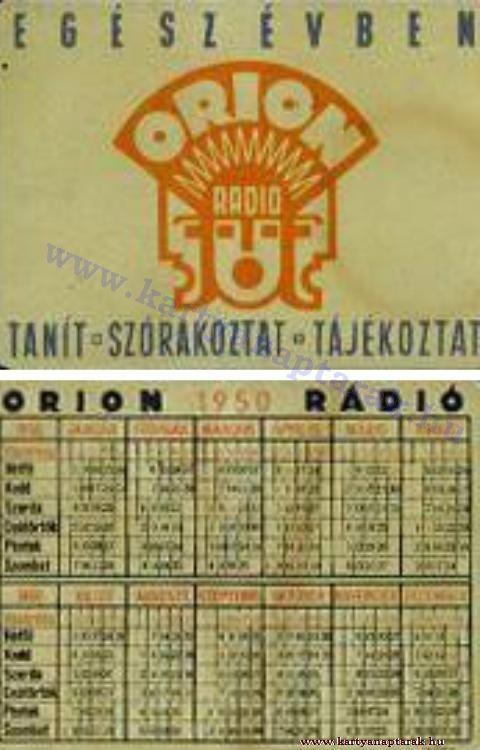 1950 - 1950_0012 - Régi magyar kártyanaptárak