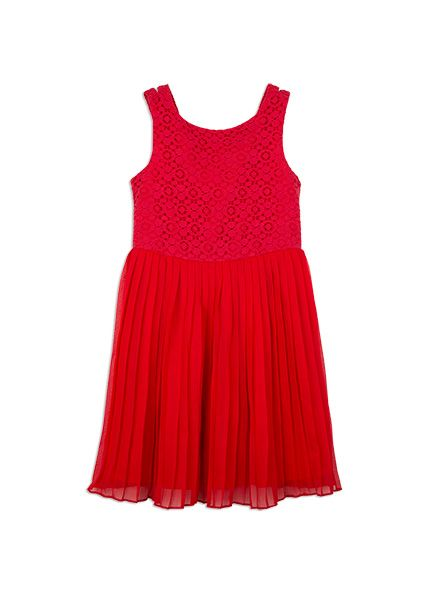 Pumpkin Patch -  - lace and gathered dress - S5GL80006 - scarlet - 5 to 12