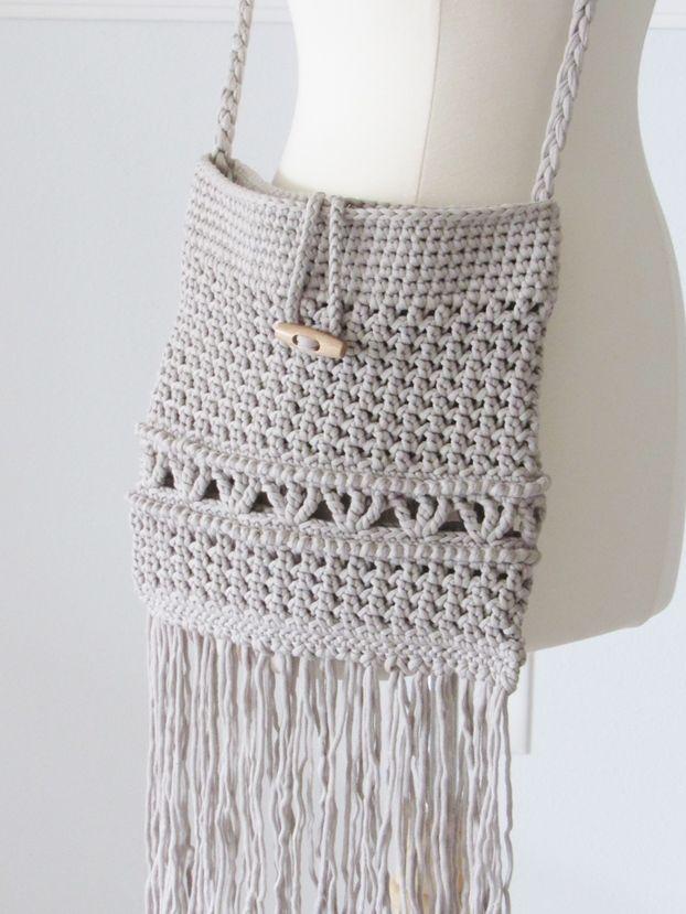 Patrón de bolsa de ganchillo gratis, una bolsa de boceto de madeja