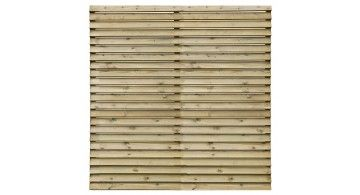 Louver panel 1 8 x pressure treated green jewson for Garden decking jewsons