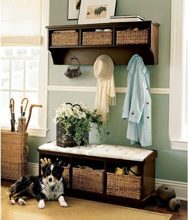 muebles recibidor rusticos baratos decoración escalera mueble
