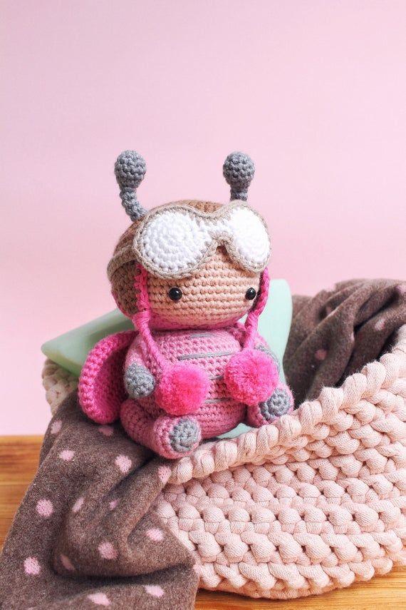 Crochet pattern summer ladybug, amigurumi toys bugs, tutorial pdf ... | 855x570