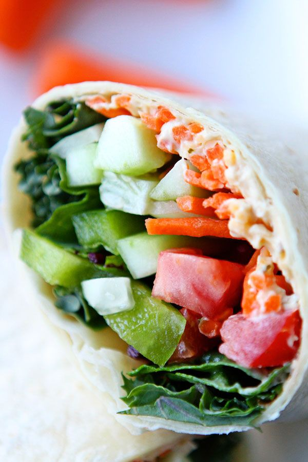 Hummus and Veggie Wraps - A quick and easy dinner for those HOT summer nights…