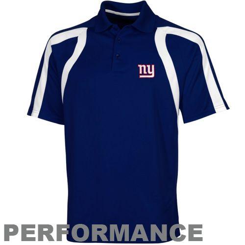 NFL Antigua New York Giants Point Polo - Royal Blue