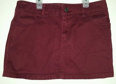 Girls Abercrombie kids cotton blend skirt size 12 burgundy