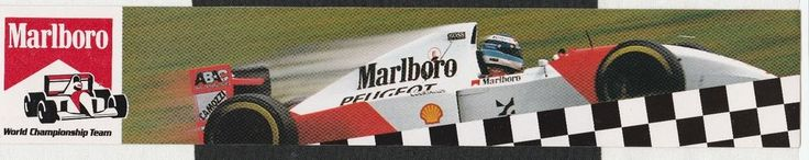 MARLBORO McLAREN F1 TEAM 1994 MP4/9 MIKA HAKKINEN ORIGINAL PERIOD RACE STICKER