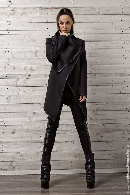 Купить КУРТКА ИЗ НЕОПРЕНА - черный, куртка женская, зимняя одежда, неопрен…